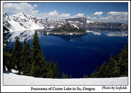 Crater Lake in So. Oregon - Click for Larger Image