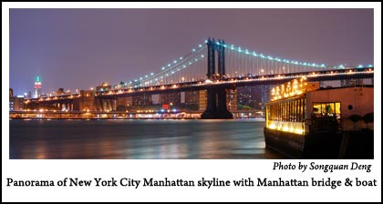 Panorama-Manhatten Bridge - Click for Larger Image