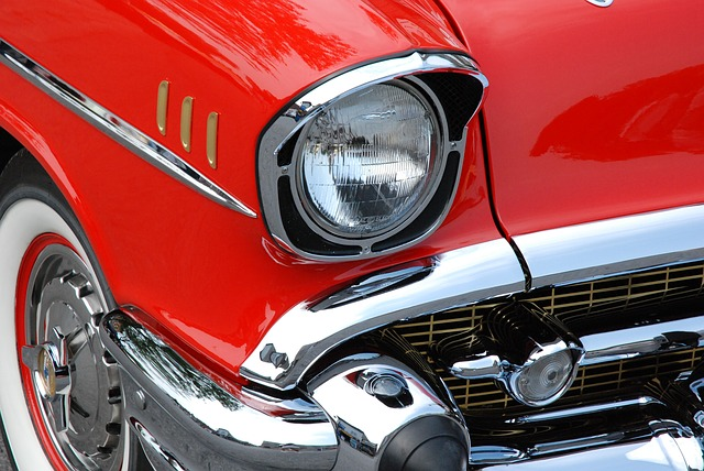 Lighting - Classic Car, Red, Automobiles